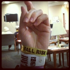 ID and FALL RISK wrist bands